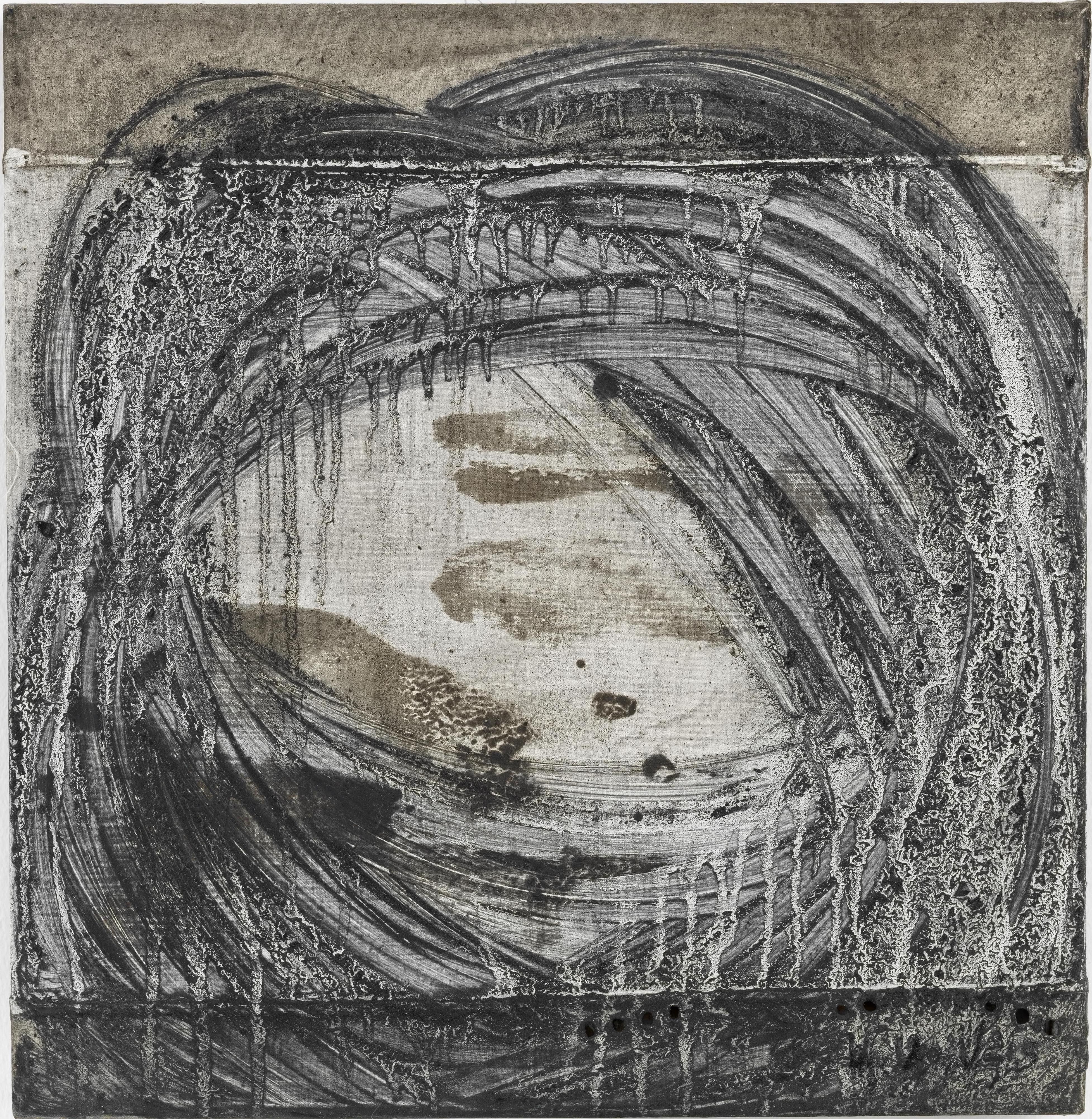 Acceleration 3 // Asche auf Leinwand // 40 x 40 cm // 2014