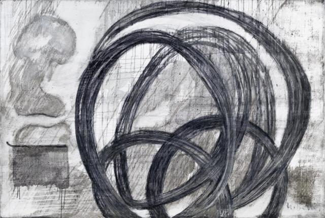 Acceleration 1 // Asche auf Leinwand // 120 x 180 cm // 2015