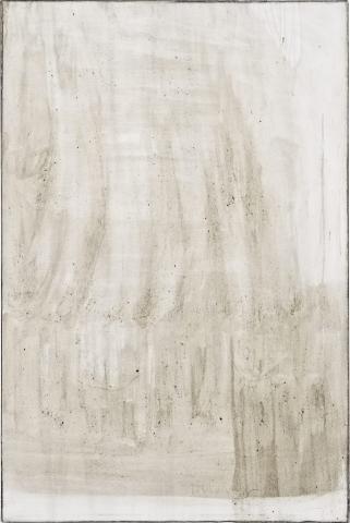 Ashes to Ashes 11 // Asche auf Leinwand  // 150 x 100 cm // 2011