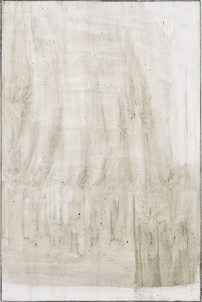 Ashes to Ashes 11 // Asche in Eitempera auf Leinwand  // 150 x 100 cm // 2011