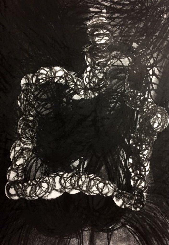 Acceleration Drawings 1 // Kohle auf Papier // 70 x 50 cm // 2017