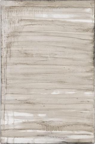 Ashes to Ashes 20  // Asche auf Leinwand // 150 x 100 cm // 2011
