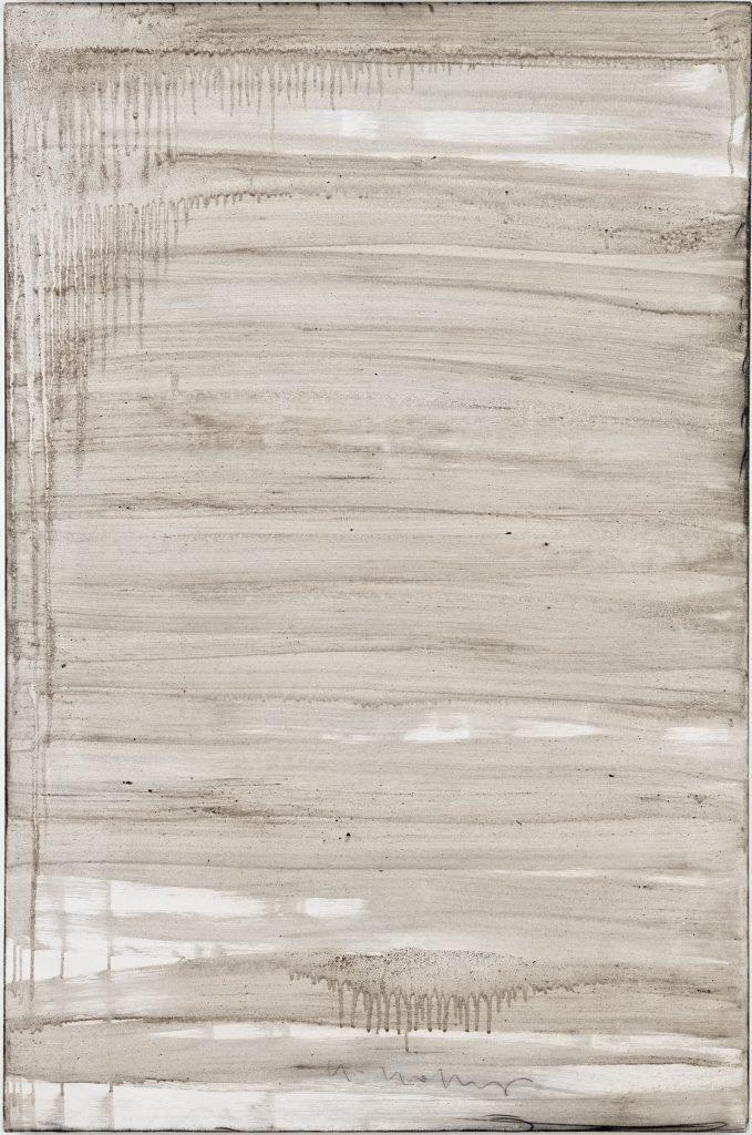 Ashes to Ashes 20  // Asche in Eitempera auf Leinwand // 150 x 100 cm // 2011
