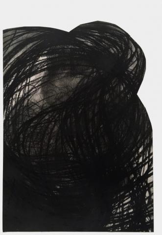 Acceleration Drawings 2 // Kohle auf Papier // 70 x 50 cm // 2017