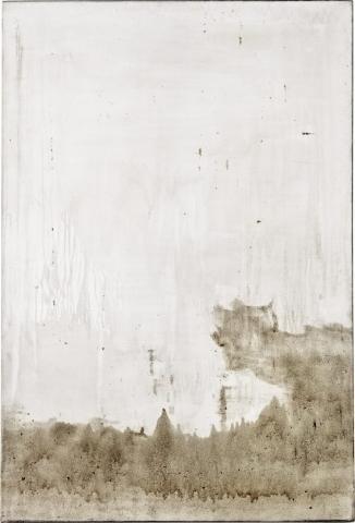 Ashes to Ashes 1   // Asche auf Leinwand // 150 x 100 cm // 2011