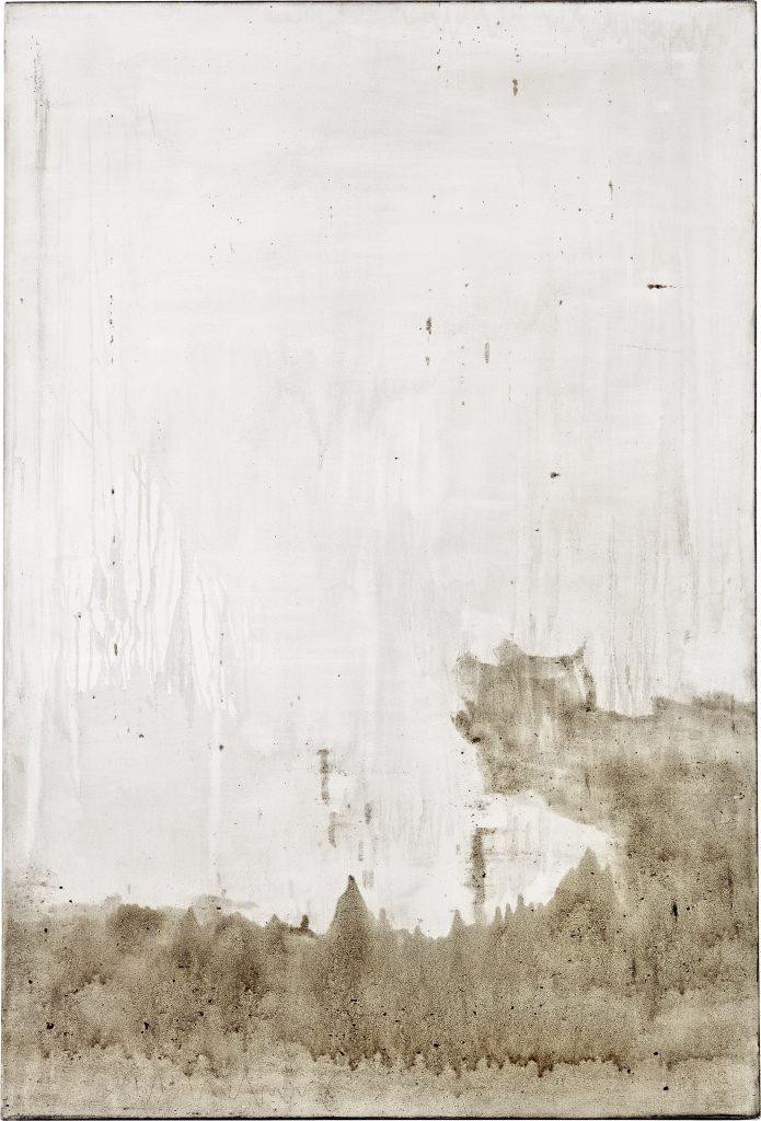 Ashes to Ashes 1   // Asche in Eitempera auf Leinwand // 150 x 100 cm // 2011