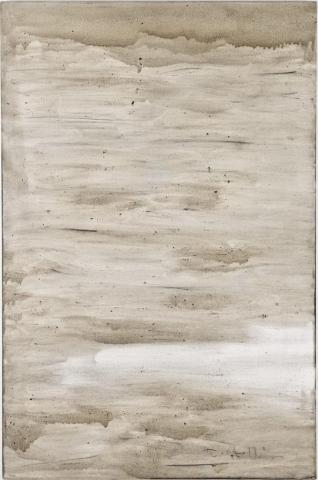 Ashes to Ashes 5  // Asche auf Leinwand // 150 x 100 cm // 2011
