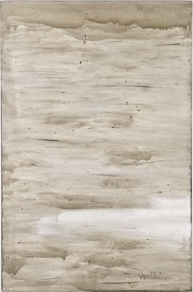 Ashes to Ashes 5  // Asche in Eitempera auf Leinwand // 150 x 100 cm // 2011
