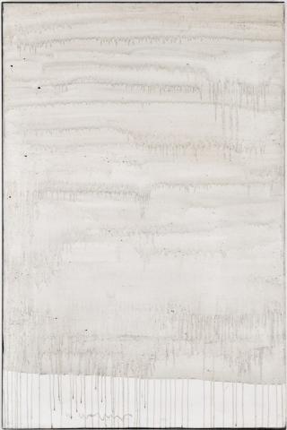 Ashes to Ashes 12  // Asche auf Leinwand // 150 x 100 cm // 2011