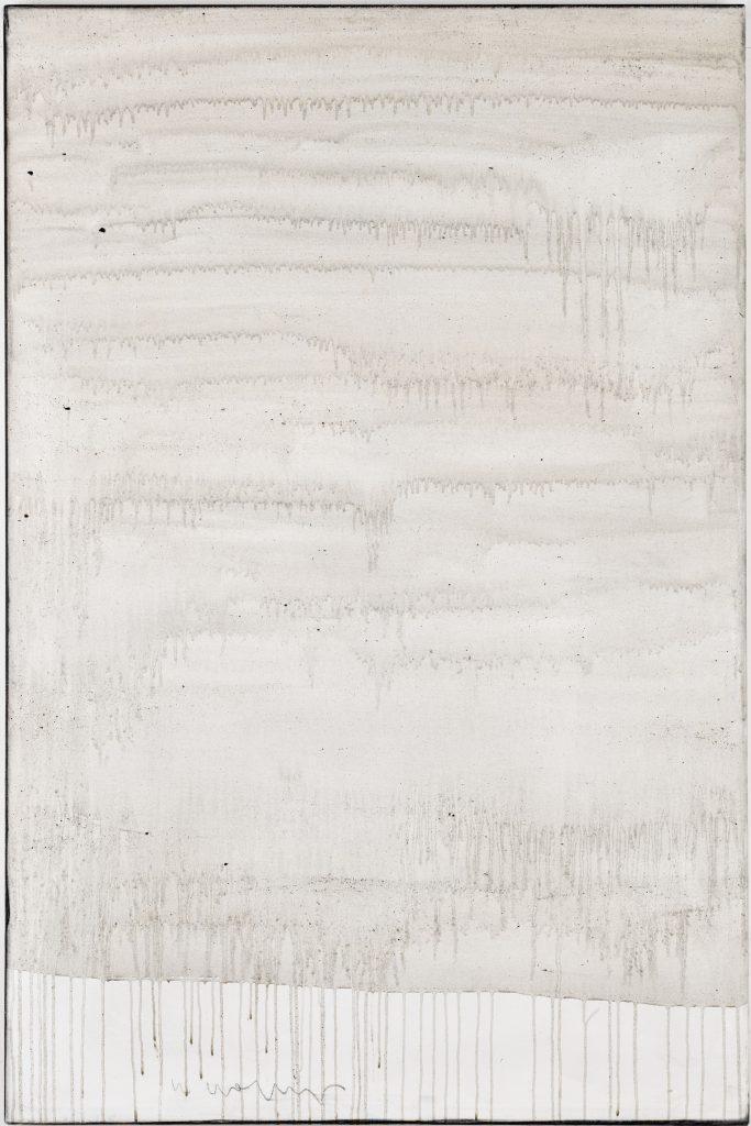 Ashes to Ashes 12  // Asche in Eitempera auf Leinwand // 150 x 100 cm // 2011