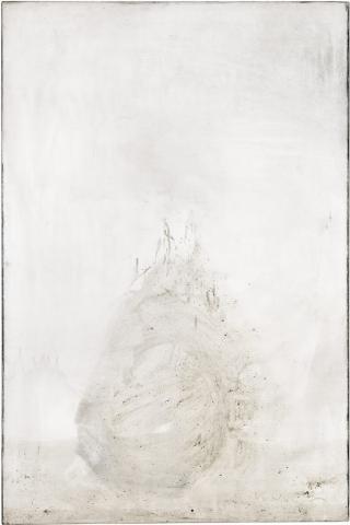 Ashes to Ashes 6  // Asche auf Leinwand // 150 x 100 cm // 2011