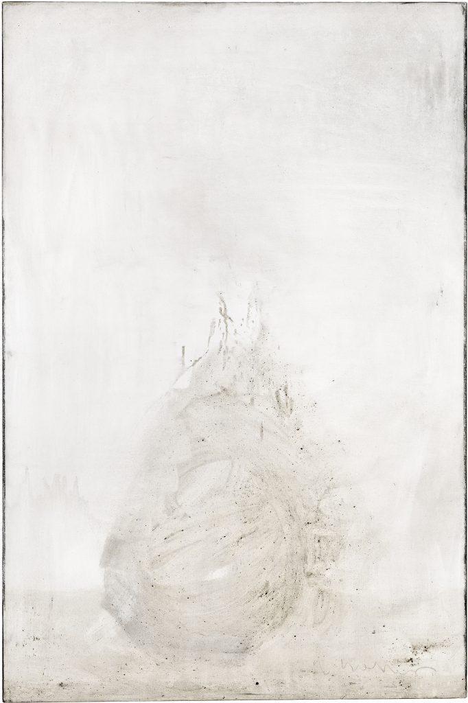 Ashes to Ashes 6  // Asche in Eitempera auf Leinwand // 150 x 100 cm // 2011