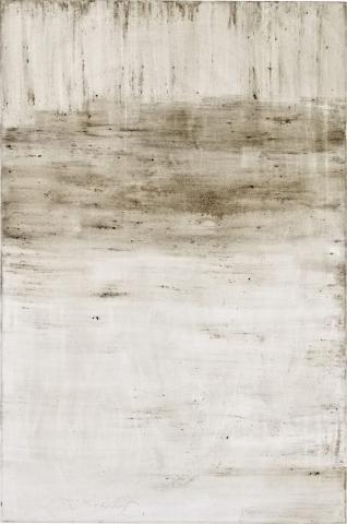 Ashes to Ashes 8  // Asche auf Leinwand // 150 x 100 cm // 2011