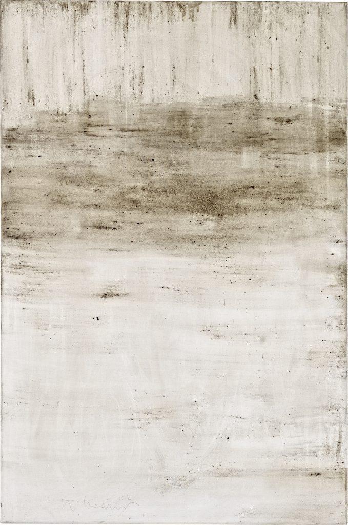 Ashes to Ashes 8  // Asche in Eitempera auf Leinwand // 150 x 100 cm // 2011