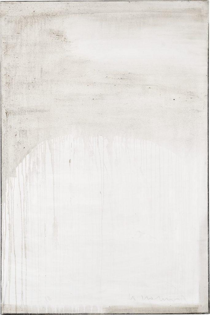 Ashes to Ashes 7  // Asche in Eitempera auf Leinwand // 150 x 100 cm // 2011