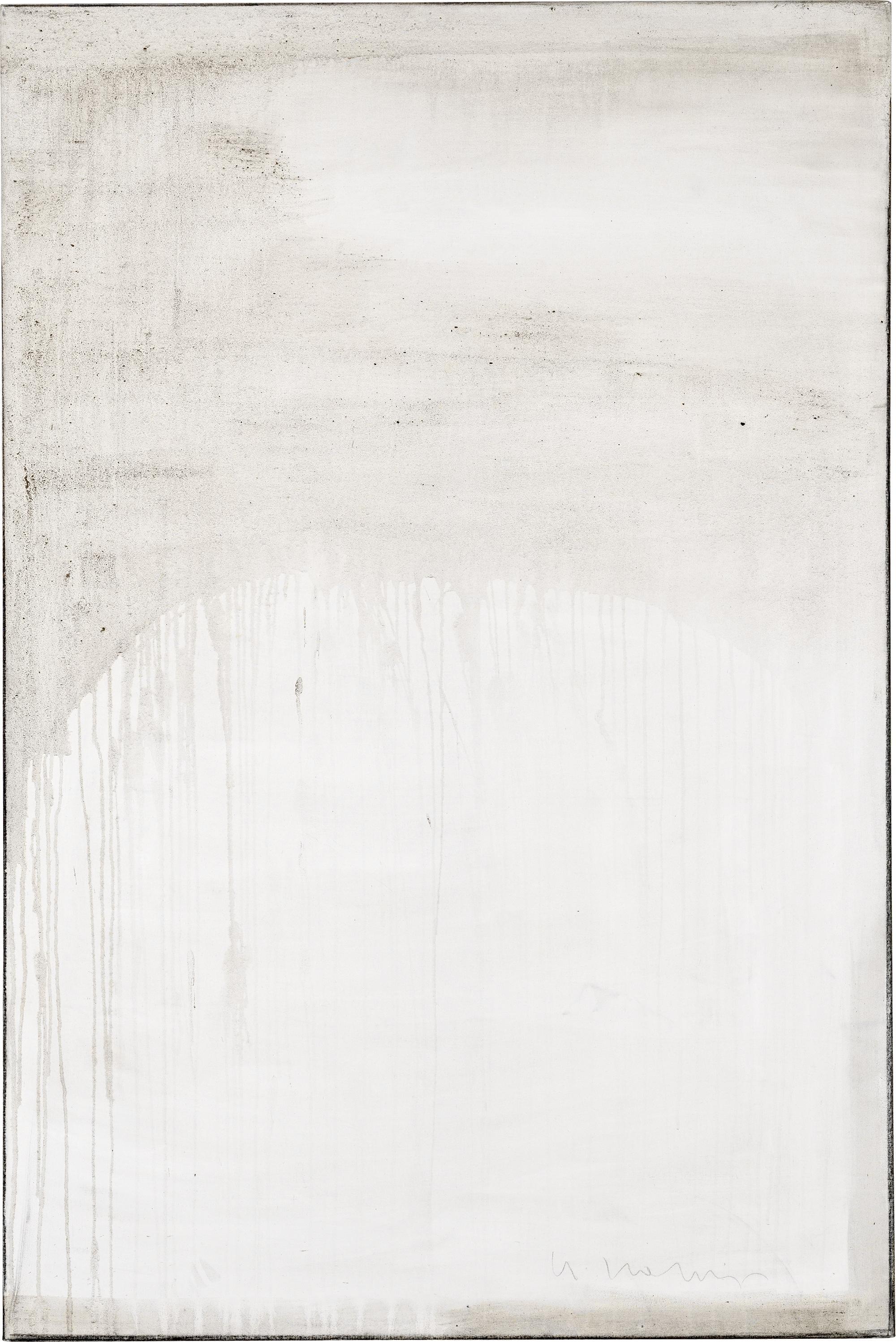 Ashes to Ashes 7  // Asche auf Leinwand // 150 x 100 cm // 2011