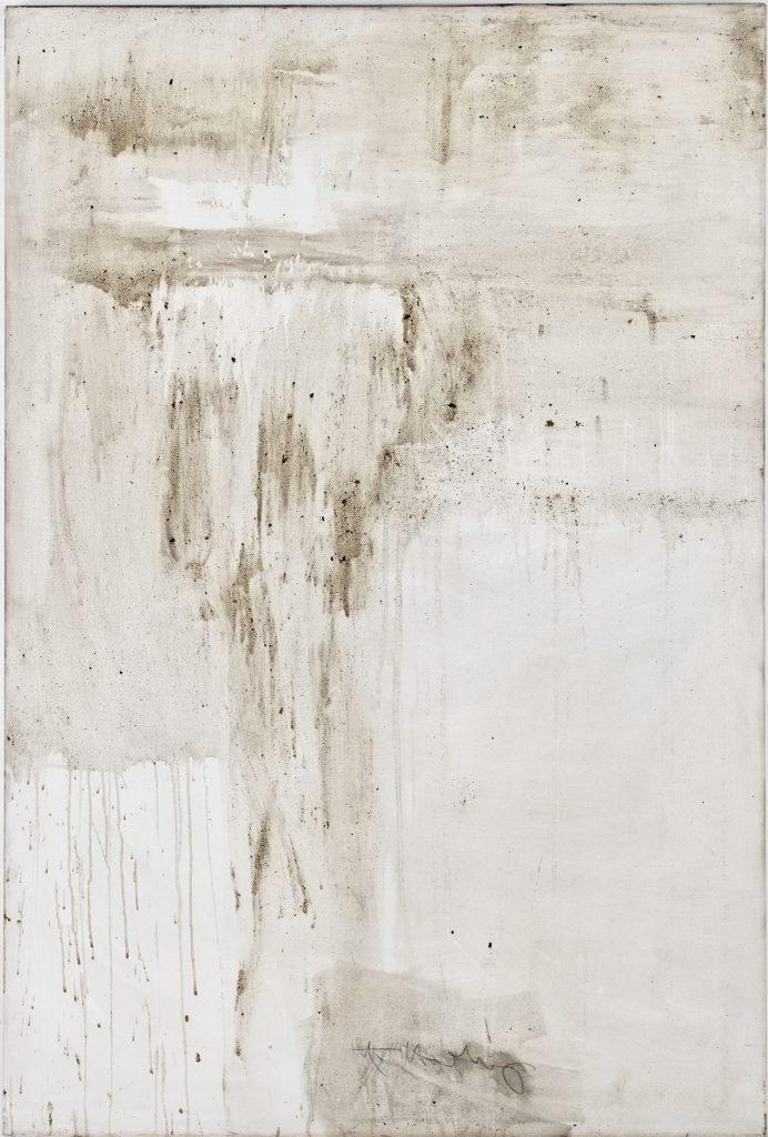Ashes to Ashes 18  // Asche in Eitempera auf Leinwand // 150 x 100 cm // 2011