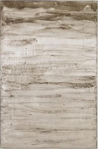 Ashes to Ashes 9  // Asche auf Leinwand // 150 x 100 cm // 2011
