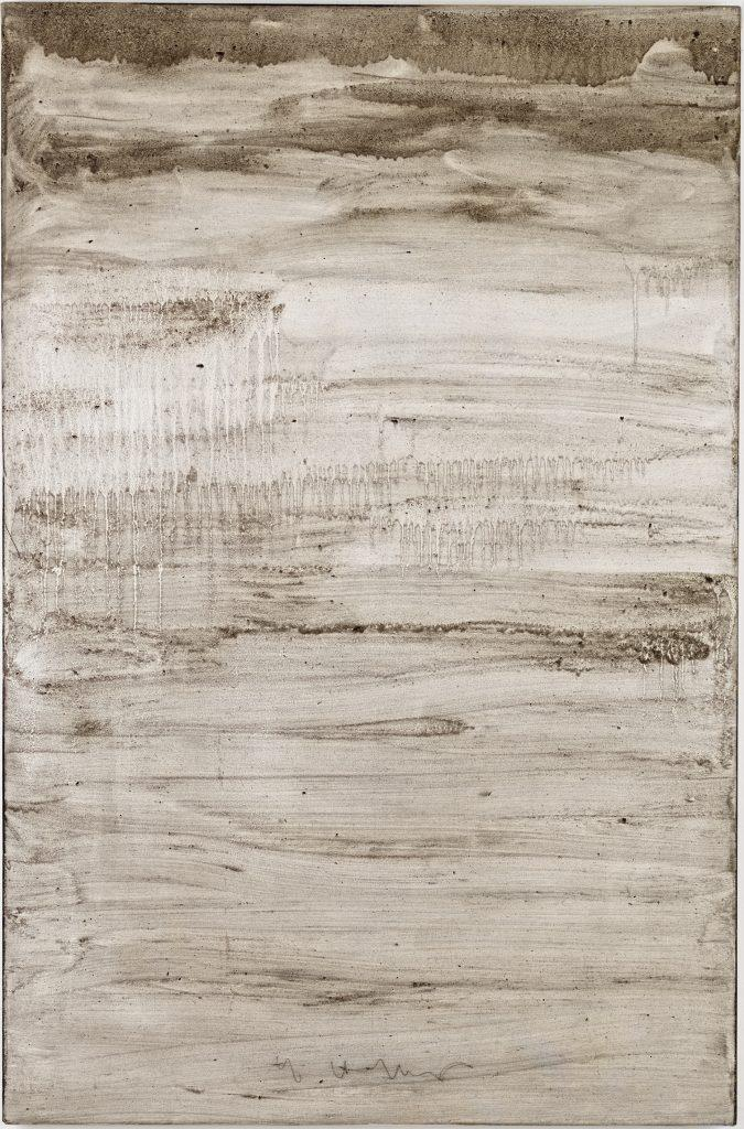 Ashes to Ashes 9  // Asche in Eitempera auf Leinwand // 150 x 100 cm // 2011