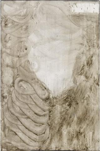 Ashes to Ashes 13  // Asche auf Leinwand // 150 x 100 cm // 2011