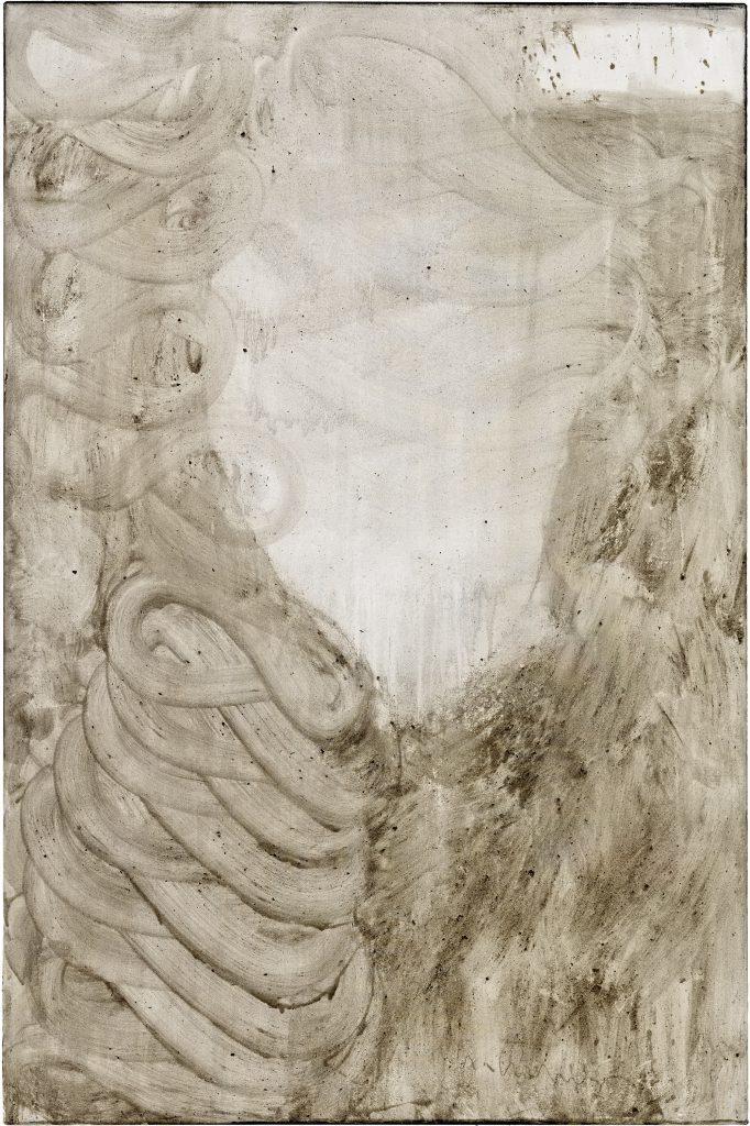Ashes to Ashes 13  // Asche in Eitempera auf Leinwand // 150 x 100 cm // 2011