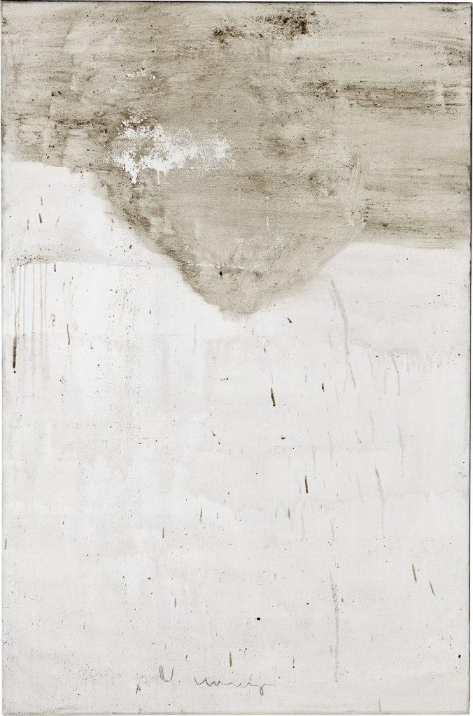Ashes to Ashes 15  // Asche in Eitempera auf Leinwand // 150 x 100 cm // 2011