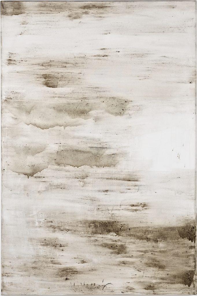 Ashes to Ashes 16  // Asche in Eitempera auf Leinwand // 150 x 100 cm // 2011
