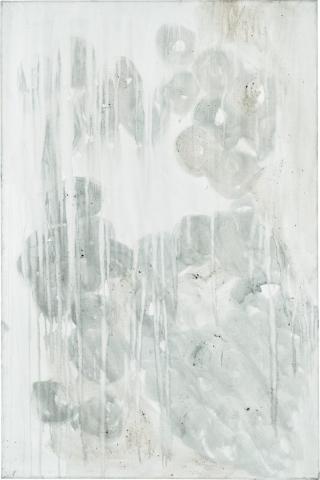 Ashes to Ashes 3  // Asche auf Leinwand // 150 x 100 cm // 2011