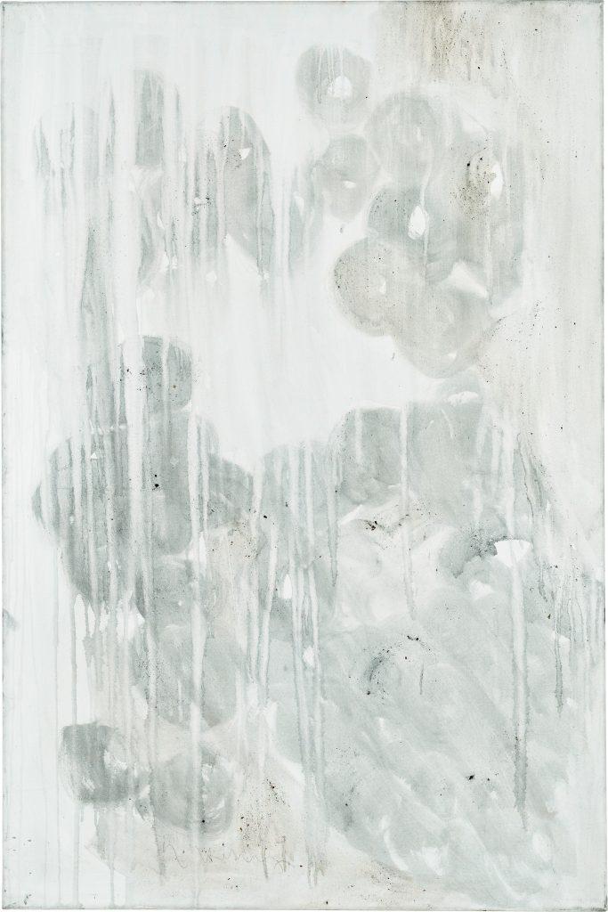 Ashes to Ashes 3  // Asche in Eitempera auf Leinwand // 150 x 100 cm // 2011