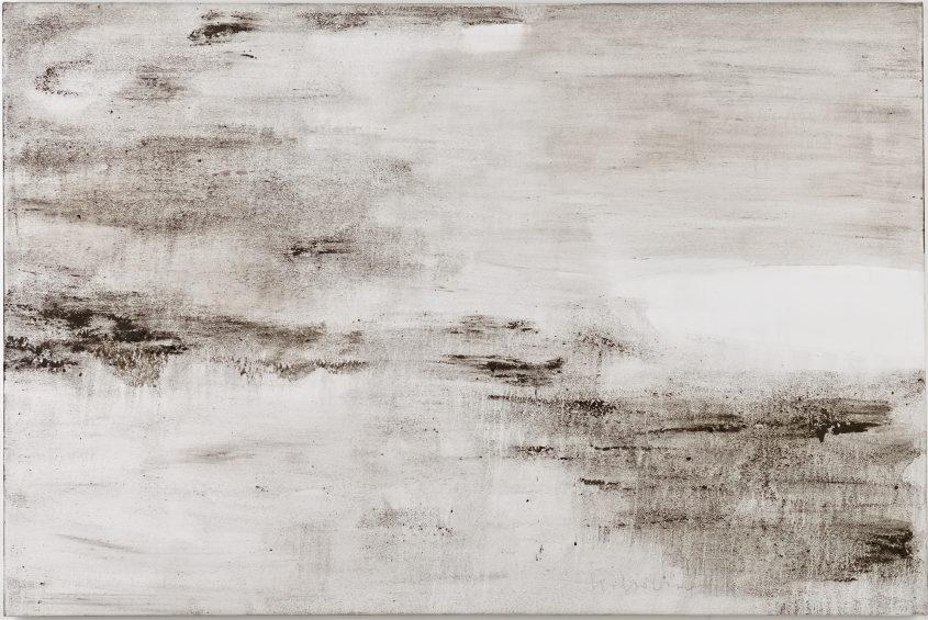 Ashes to Ashes 21  // Asche in Eitempera auf Leinwand // 100 x 150 cm // 2014