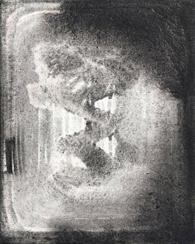 Untitled 6 // Ruß aus Erdöl auf Leinwand // 30 x 24 cm // 2018