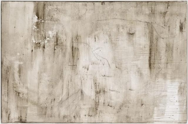 Ashes to Ashes 19  // Asche auf Leinwand // 100 x 150 cm // 2011