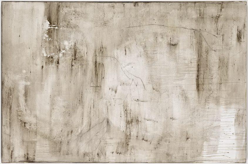 Ashes to Ashes 19  // Asche in Eitempera auf Leinwand // 100 x 150 cm // 2011