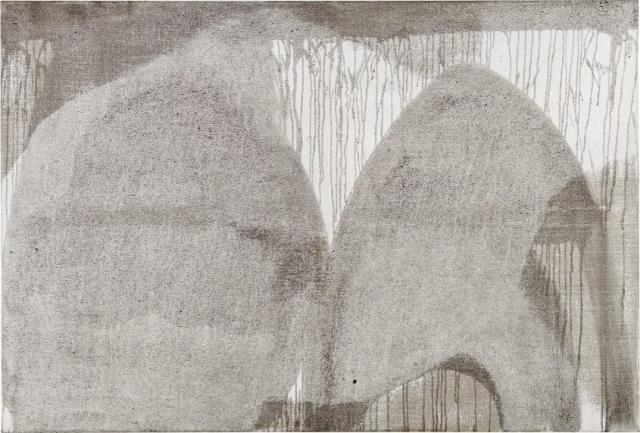 Centrifugal Force  // Asche auf Leinwand // 100 x 150 cm // 2014