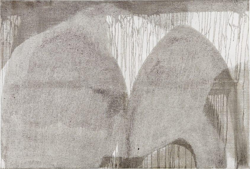 Centrifugal Force  // Asche in Eitempera auf Leinwand // 100 x 150 cm // 2014