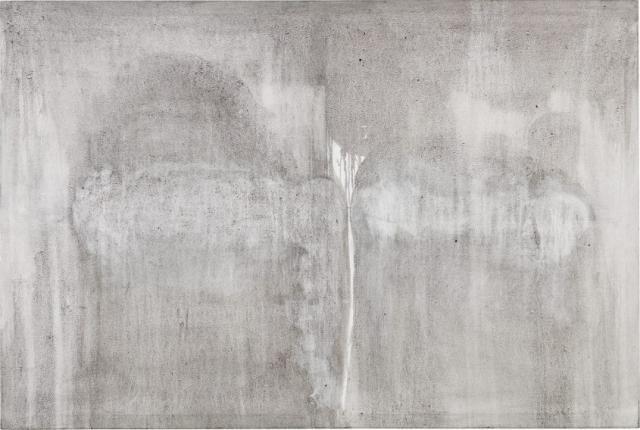 Interaction // Asche auf Leinwand // 120 x 180 cm // 2014