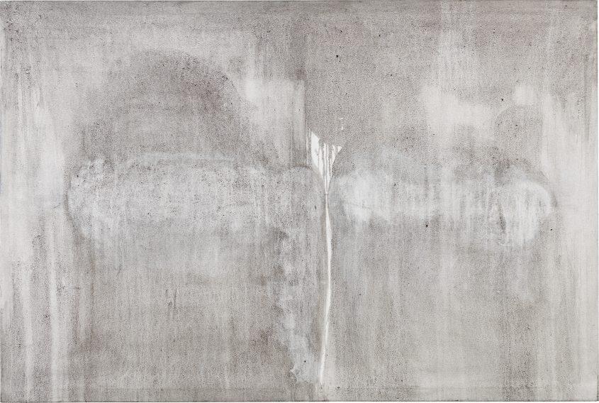 Interaction // Asche in Eitempera auf Leinwand // 120 x 180 cm // 2014