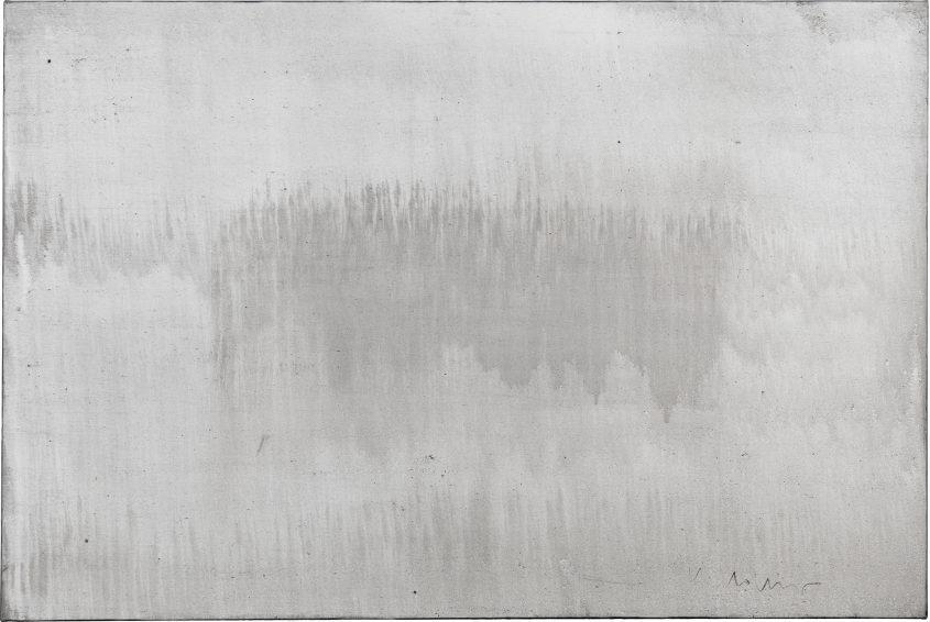 Origin of the world 3 // Asche in Eitempera auf Leinwand // 120 x 180 cm // 2015