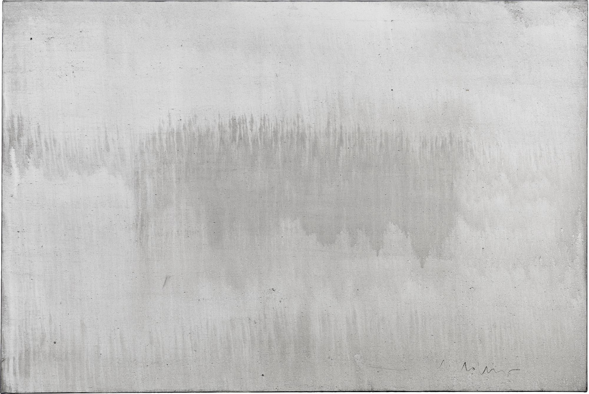Origin of the world 3 // Asche auf Leinwand // 120 x 180 cm // 2015