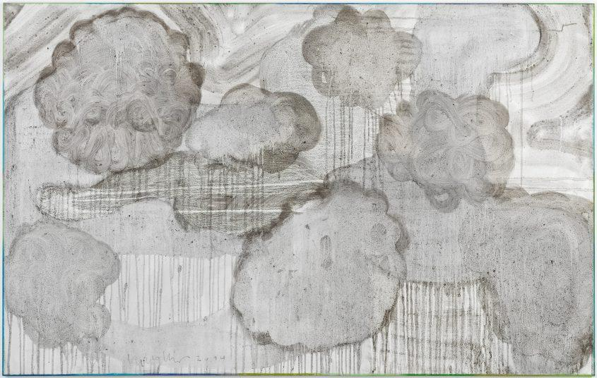 Clouds 2 // Asche in Eitempera auf Leinwand // 100 x 160 cm // 2014