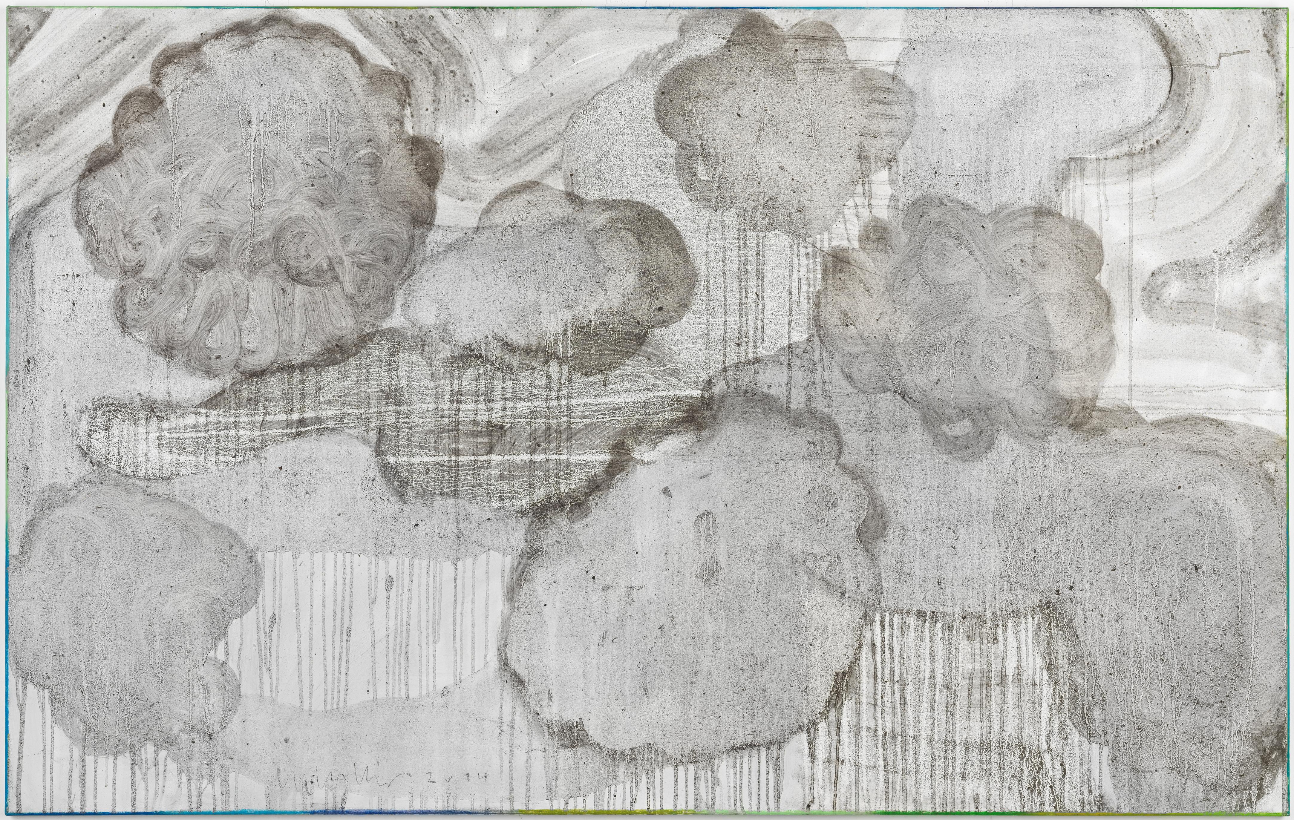 Clouds 2 // Asche auf Leinwand // 100 x 160 cm // 2014