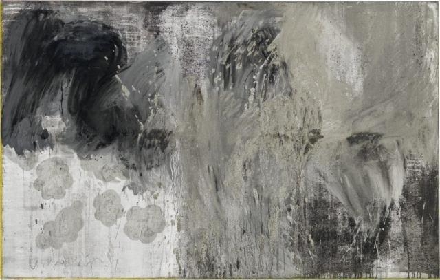 Clouds 1 // Asche auf Leinwand // 100 x 160 cm // 2014