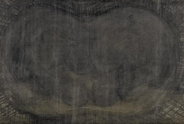 Heads 4 // Asche auf Leinwand // 100 x 160 cm // 2014