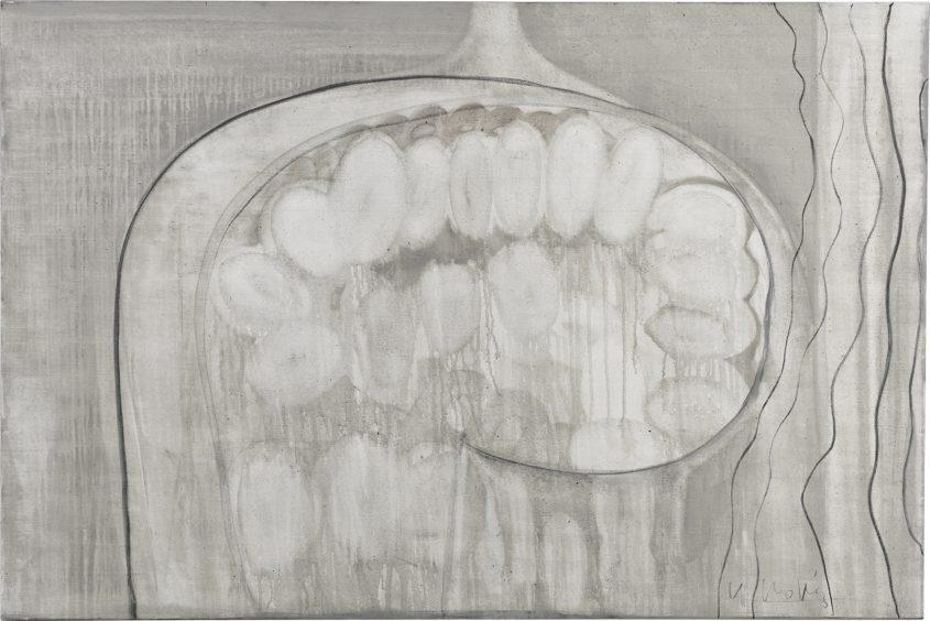 Heads 3 // Asche in Eitempera auf Leinwand // 120 x 180 cm // 2015