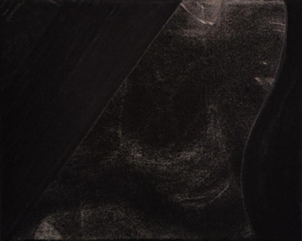 Untitled 1 // Ruß aus Erdöl auf Leinwand // 24 x 30 cm // 2018