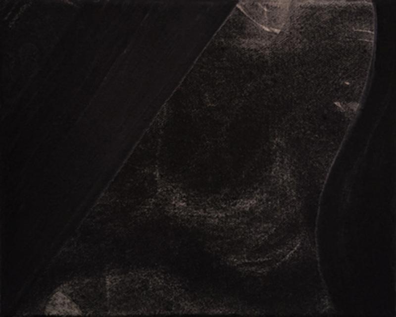 Untitled 1 // Ruß aus Erdöl in Eitempera auf Leinwand // 24 x 30 cm // 2018