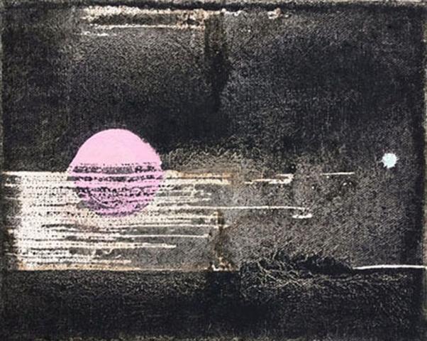 Untitled 2 // Ruß aus Erdöl auf Leinwand // 24 x 30 cm // 2018