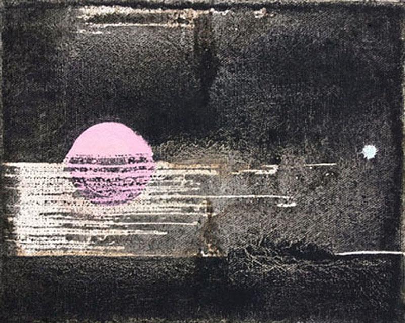 Untitled 2 // Ruß aus Erdöl in Eitempera auf Leinwand // 24 x 30 cm // 2018