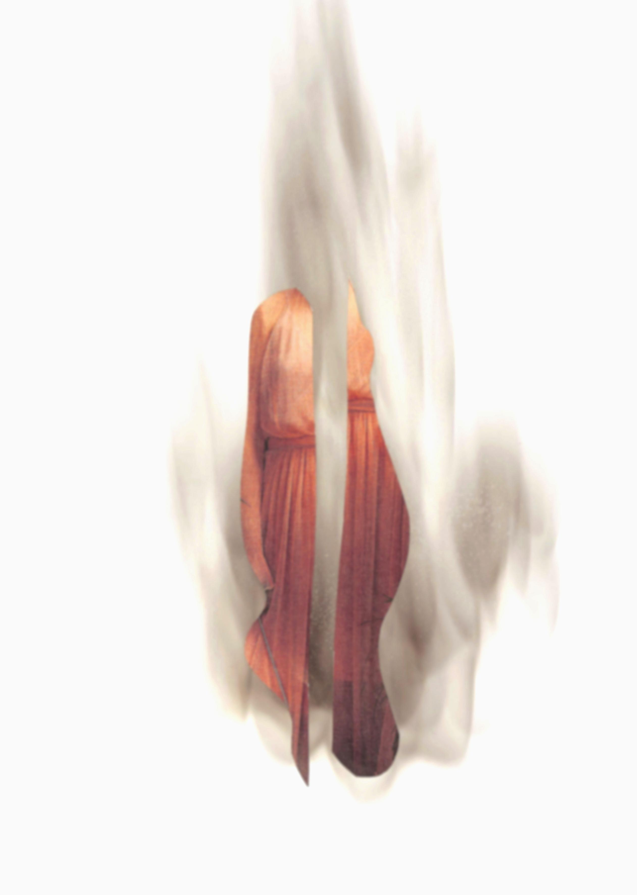 Fantôme Exceptionnel 2 // Collage mit Ruß // 30 x 21 cm // 2018