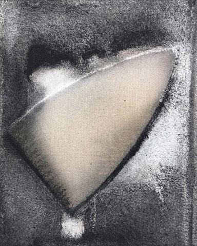Untitled 4 // Ruß aus Erdöl auf Leinwand // 30 x 24 cm // 2018